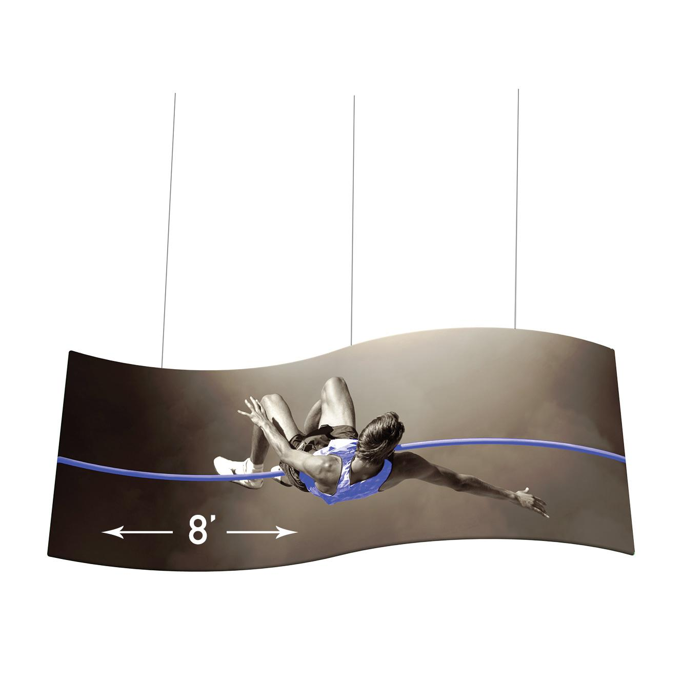 S-curve Fabric Hanging Signs