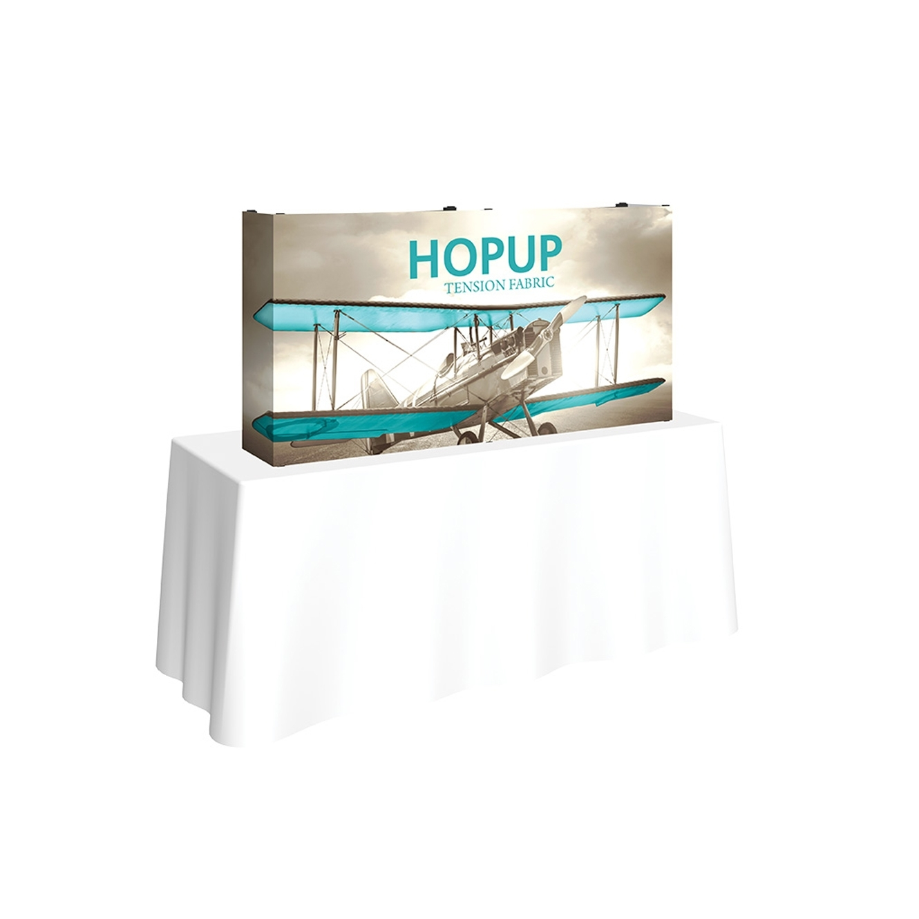 Pop-Fab 2x1 Tabletop Straight Tension Fabric Display