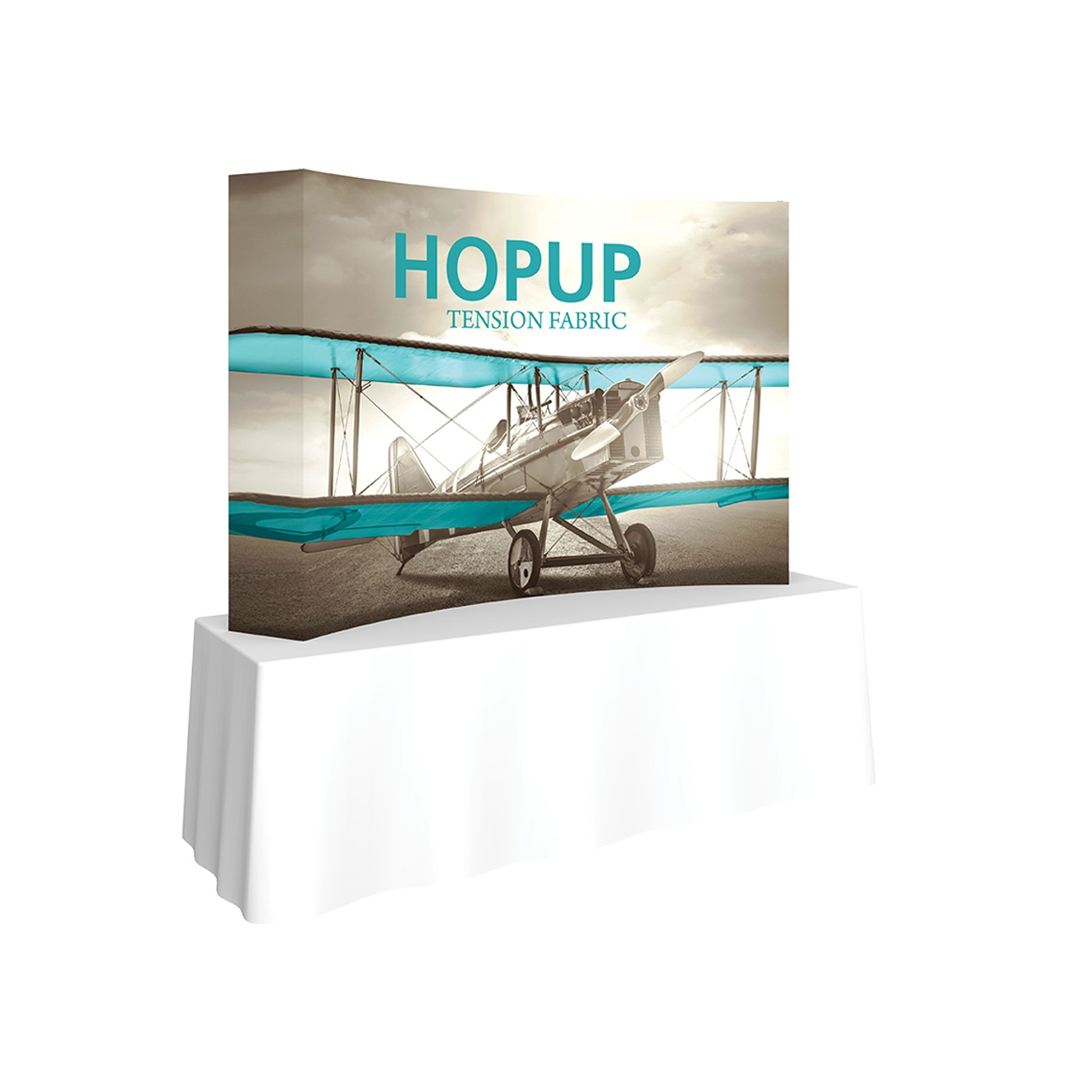 Pop-Fab 3x2 Tabletop Curved Tension Fabric Display